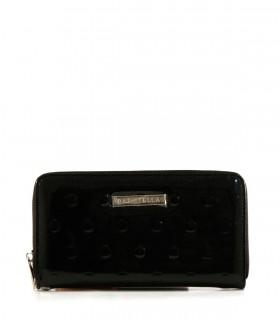 Billeteras grabadas con correa de símil  en negro