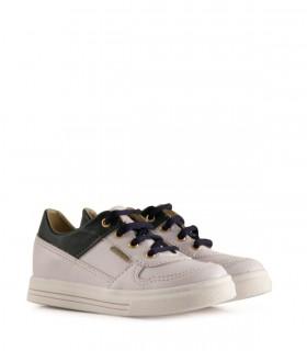 Zapatillas de símil en blanco y azul