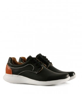 Zapatos acordonados de cuero negro