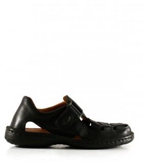Franciscanas de cuero negro para hombres