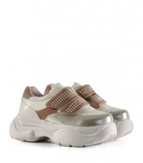 Zapatillas urbanas de símil en plata