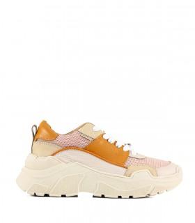 Zapatillas urbanas de cuero en rosa