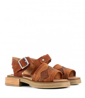 Sandalias bajas de cuero en suela
