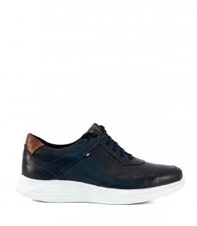 Zapatillas urbanas de cuero en azul