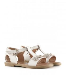 Sandalias de cuero blancas