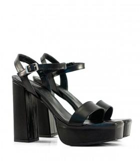 Sandalias de fiesta en cuero negro