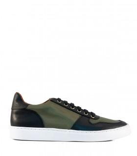 Zapatillas urbanas de tela en verde