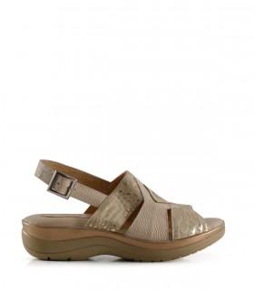 Sandalias de cuero fantasía en natural