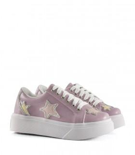 Zapatillas de símil en lila