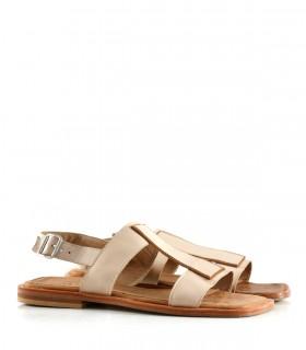 Sandalias bajas de cuero en natural