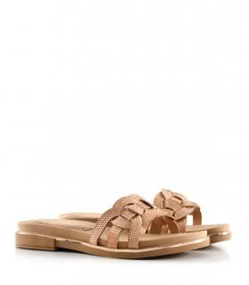 Sandalias de símil con brillo en nude