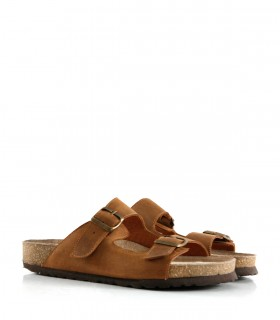 Sandalias de nobuk en habano