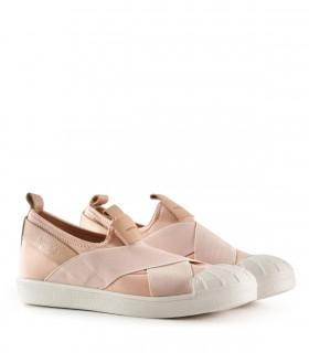 Zapatillas urbanas de tela con elástico en nude