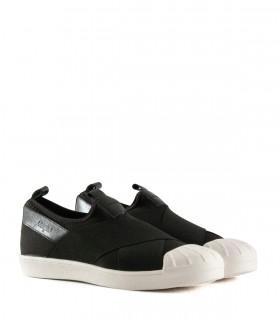 Zapatillas urbanas de tela con elástico en negro