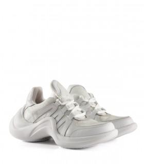 Zapatillas urbanas tramadas de símil en blanco
