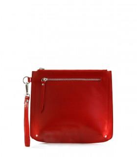 Bolso sobre de cuero en rojo